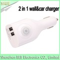 5v 2100ma wall charger car charger for iphone 7 iphone 6s samsung 2 in 1 charger
