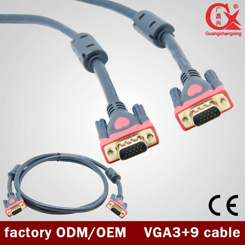 30m Gold plated High Quality VGA extension cable 3+9 VGA Cable