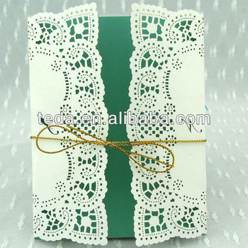 Gold Strings with Wedding invitation cards(FC-006)