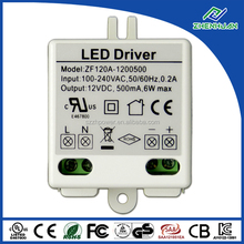 Mini led driver 12V 0.5A 6W led adapter with UL CE