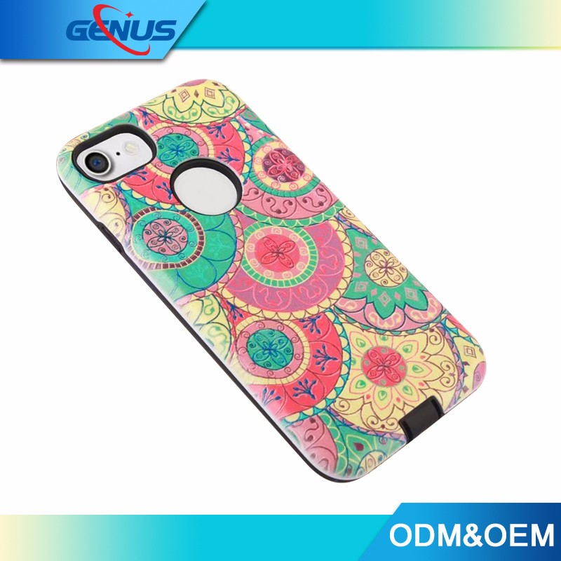 For iphone 7 Sublimation Phone Case, TPU PC Plastic Cover Case 4.7 inch For iphone 7 Case