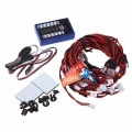 12 LED 4 operation modes Multi color RC Car Flashing Light Lamp System 4.8 6.0V
