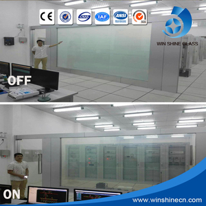 Working life more than 50000 hours electric control smart tinted glass film for office partition wall