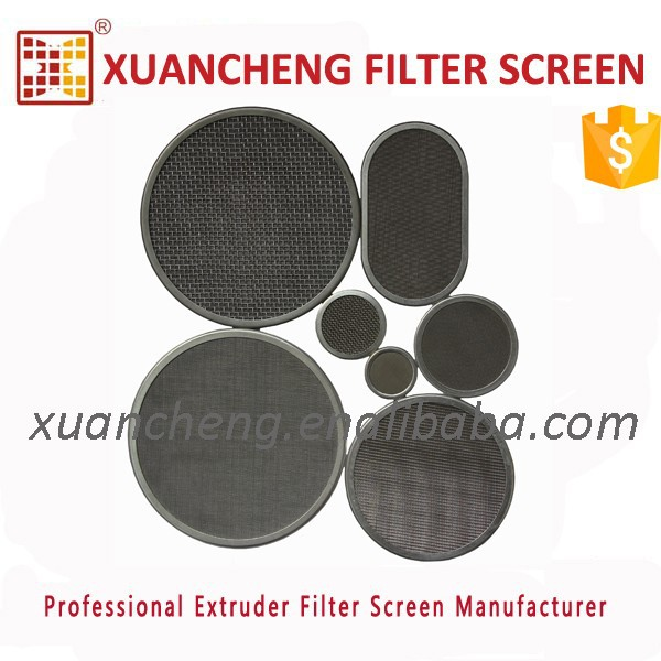 filter wire mesh for plastic & rubber extruder