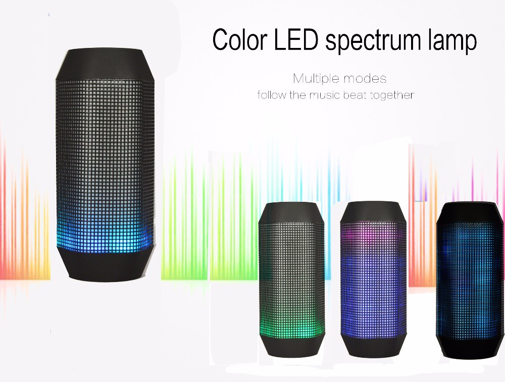 KZY Wireless Music Mini Portable Power Bank Bluetooth Speaker With LED Light