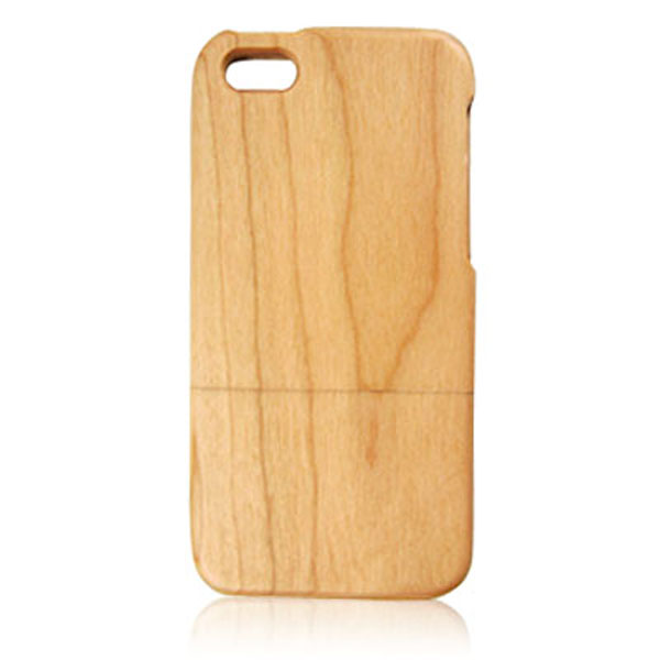 Factory direct sale cherry wood case, fine quality mobile phone cover with good price for iPhone5 5C