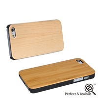 mobile phone accessories customize new universal wood+pc mobile phone case for iphone5