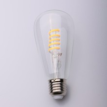 Clear/Amber Glass 4w Round Shape soft LED Filament Bulb