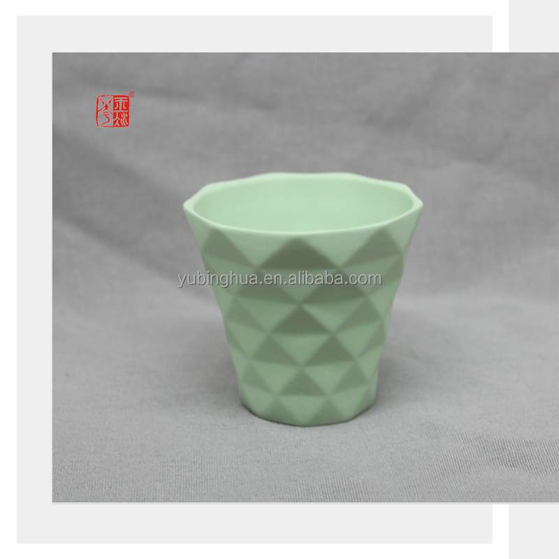 Color Clay Ceramic Candle Cup for Home Decoration