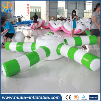 2017 high quality inflatable floating starfish disc for water games