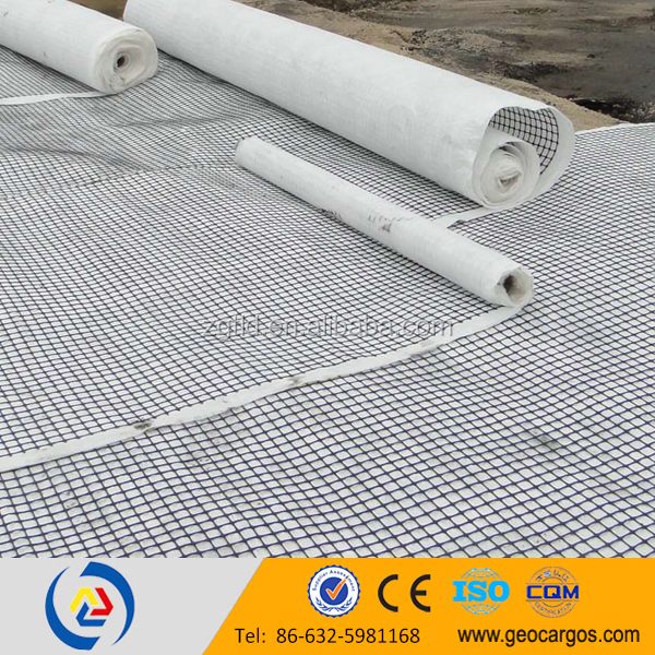 pp biaxial geogrid composite geotextile
