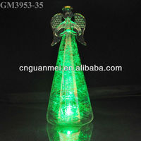 2013 christmas decoration Led light lustre glass angle craft with horn