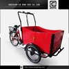 Denmark electric front load tricycles BRI-C01 three wheel tricycle bicycle cargo trailer