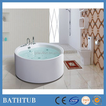 small round massage arylic whirlpool free standing white bathtub for homes