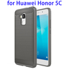 Brushed Texture Carbon Fiber TPU Back Cover Cases for Huawei Honor 5C