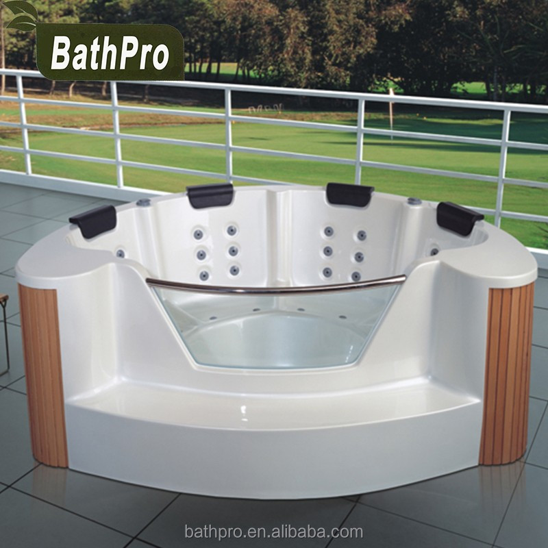 CE RoHS reach free standing whirlpool massage 4 person free standing hot tub