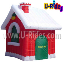 Hot sales Christmas cottage Inflatable house price with air blower