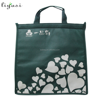 Recycle Portable Nonwoven Ice Cooler Bag for Food Frozen with Long Velcro for Top Closing