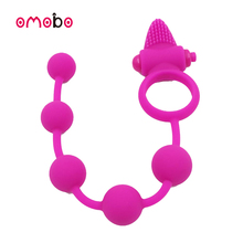 Silicone electronic cock ring Sex Toys anal beads toys