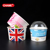 Biodegradable Custom printing Disposable Paper Frozen Yogurt Cup/Paper Ice Cream Cup