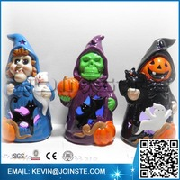 Ceramic Halloween decoration Witch, skull, pumpkin