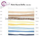 matte rayon raffia of popularity in the market