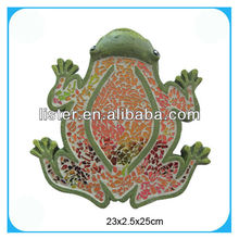 Frog shaped garden stepping stone