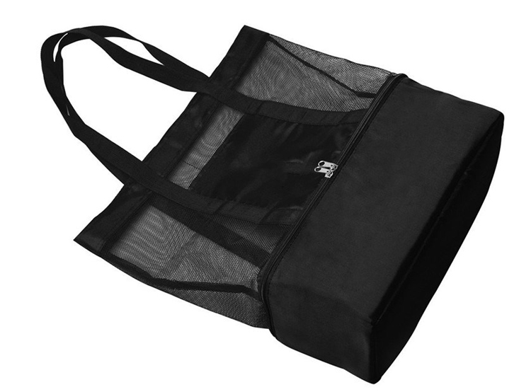 Travel collapsible Insulated Picnic Beach Mesh Cooler Tote Bag