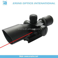 High quality of PRO hunting compact 2.5-10x40 riflescope Red laser sight for pistol and spotting scope of Laser Aim Rifle Scope