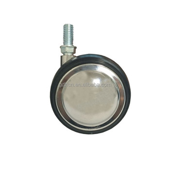 55mm wheels, rubber ball caster,Chrome plated,Code:C0370