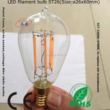 e14 Led filament bulb early electric bulbs ST26