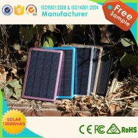 Solar Power Bank, Ultra slim solar power bank, rechargeable panel power bank with high quality