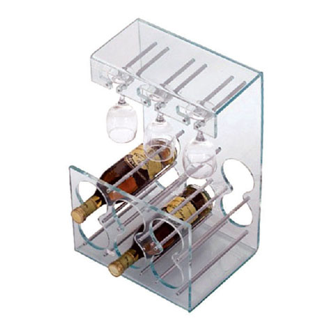New design best quality customized clear acrylic wine rack display stand wholesales