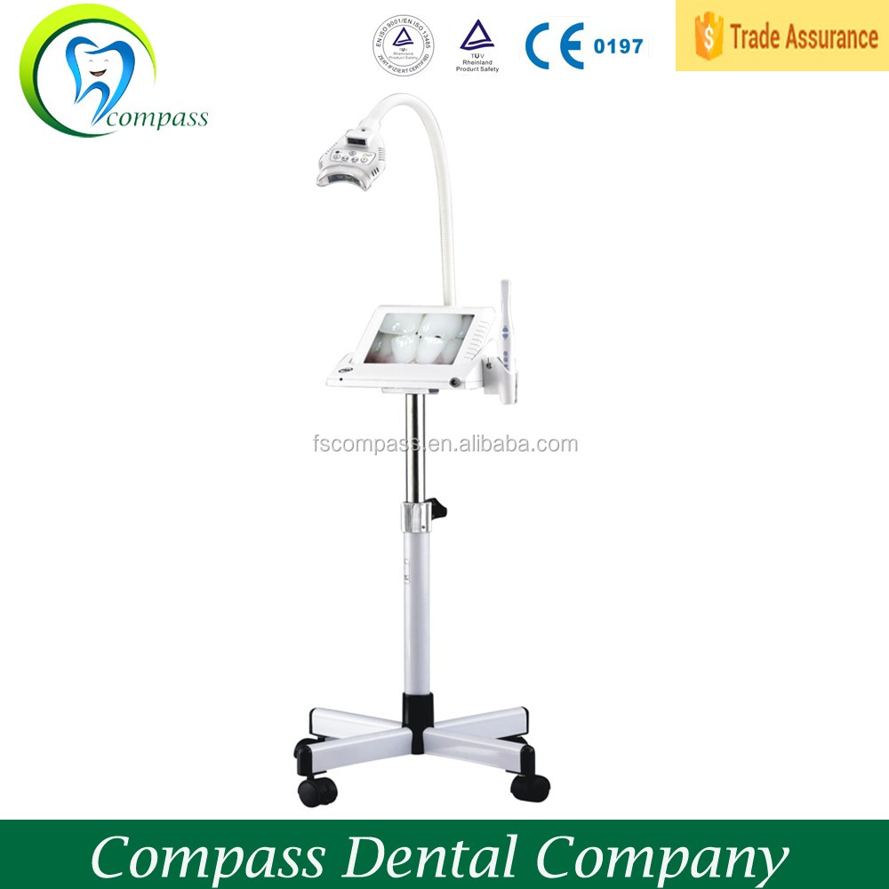 Multi-functional teeth bleaching unit with intra oral camera and monitor
