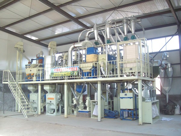 Corn flour processing line 40 tpd maize grinder machine for corn flour mill device