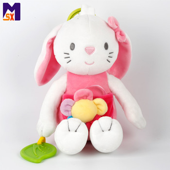 China stuffed toy factory stuffed toy lovely pink rabbit toy plush