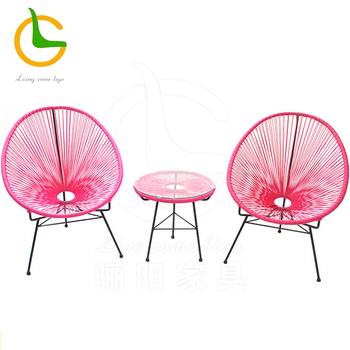 Wholesale egg shape outdoor Acapulco series poly round rattan chair