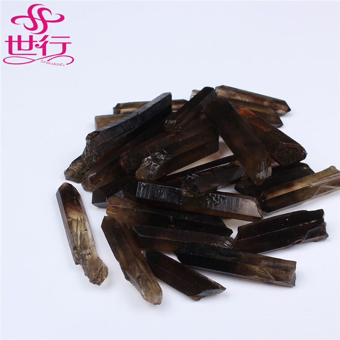 hot sale100% natural raw smoky quartz crystal stone point for making jewelry