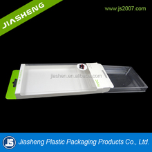 Cheap clear disposable square phone packaging boxes with customized material,PET,PP,PS