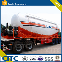 V shaped single chamber air compressor powered by independent diesel engine, CITC tri axle bulk cement tanker trailer