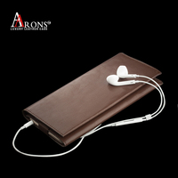 Wallet style cardholder mobile phone leather case for iphone 6 genuine leather for iphone 6