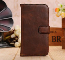 Hot sale!!!Brown/New fashional Retro Bracket Leather Flip Case Cover for Samsung Galaxy S4 s4 i9500