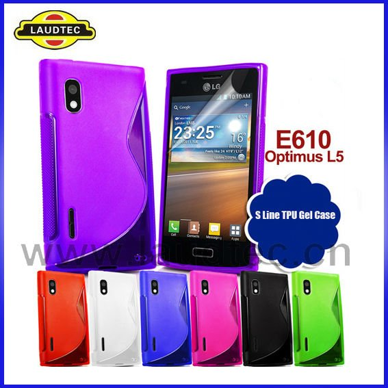 For LG Optimus L5 E610 S Line Wave TPU gel case cover NEW PRODUCT!!!!!!