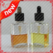 childproof tamper dropper!clear 30ml glass bottles,rectangle French fresh square glass beverage bottle