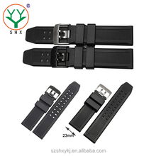 23mm Customized Silicone Rubber Watch Band / Strap For Luxury Watch