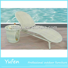 all weather outdoor rattan portable sun lounger