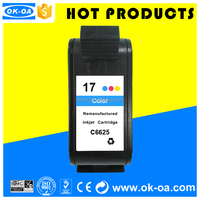 Sepcial price printer compatible ink cartridge for HP 17 C6625