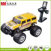 Hot selling 1:34 scale 4 channel rc car 4wd monster truck for children
