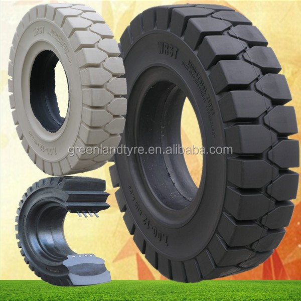 industrial 5.00-8 solid rubber Tires for forklift, China manufacturer & provider