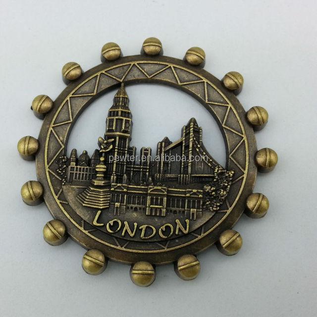 metal London eye fridge magnet